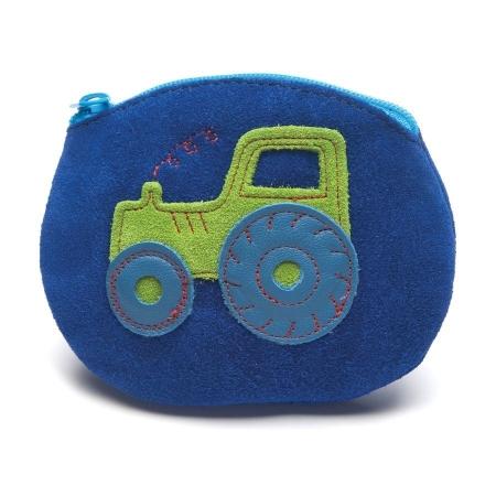 Τσάντες, Πορτοφολάκια Μπλε Δερμάτινο Πορτοφολάκι Με Τρακτέρ Inch Blue Inch Blue