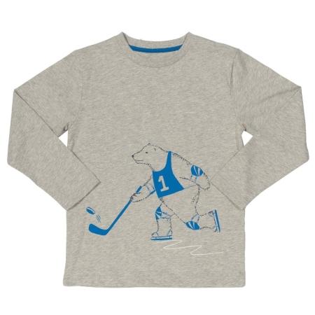 Μακρυμάνικα Γκρι Μπλούζα Με Πολική Αρκούδα Σκιέρ Kite Kite