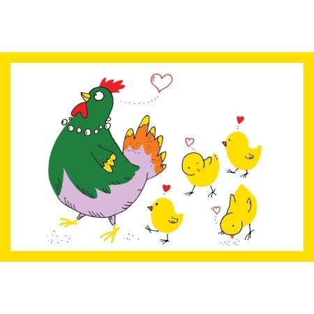 Ευχετήρια Κάρτα Με Κοτοπουλάκια BabyMou