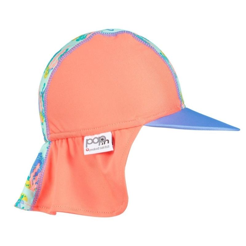 Καπέλο Ηλίου Με Θαλάσσιες Χελώνες Close
