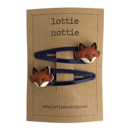 Μπλε Κλιψάκια Με Αλεπουδίτσες Lottie Nottie