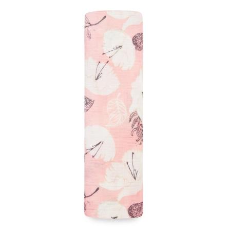 Ροζ Βρεφική Μουσελίνα Από Μπαμπού Με Πέταλα Λουλουδιών aden + anais®