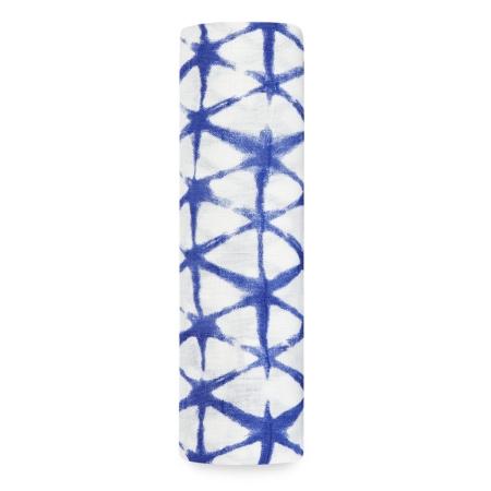 Βρεφική Μουσελίνα Από Μπαμπού Με Μπλε Κυβικά Σχέδια aden + anais®