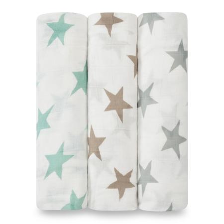 Βρεφικές Μουσελίνες Από Μπαμπού Με Αστέρια (3 pack) aden + anais®