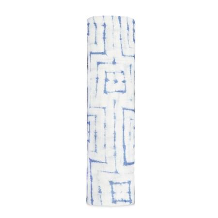 Μουσελίνες (swaddles) Βρεφική Μουσελίνα Από Μπαμπού Με Μπλε Τετράγωνα aden + anais® aden + anais®