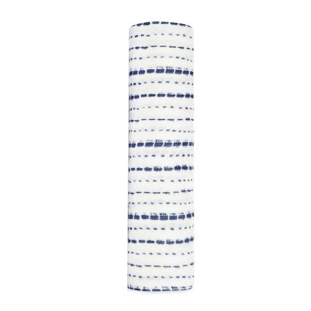 Μουσελίνες (swaddles) Βρεφική Μουσελίνα Από Μπαμπού Με Μπλε Διακεκομμένες Γραμμές aden + anais® aden + anais®
