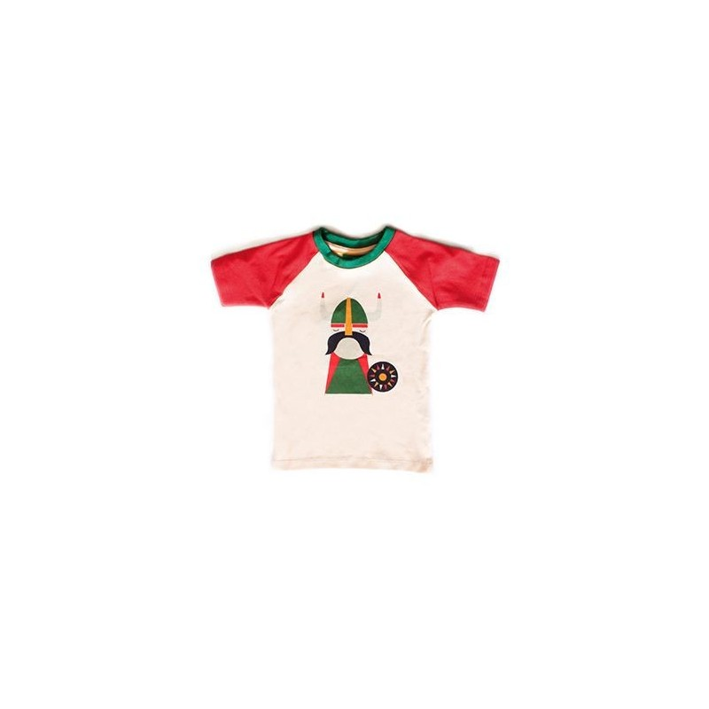 Κοντομάνικα Λευκή Κοντομάνικη Μπλούζα Με Βίκινγκ Little Green Radicals Little Green Radicals