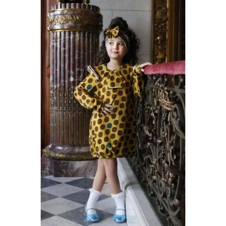 Φόρεμα Με Μεγάλα Καφέ Πουά Raspberry Republic